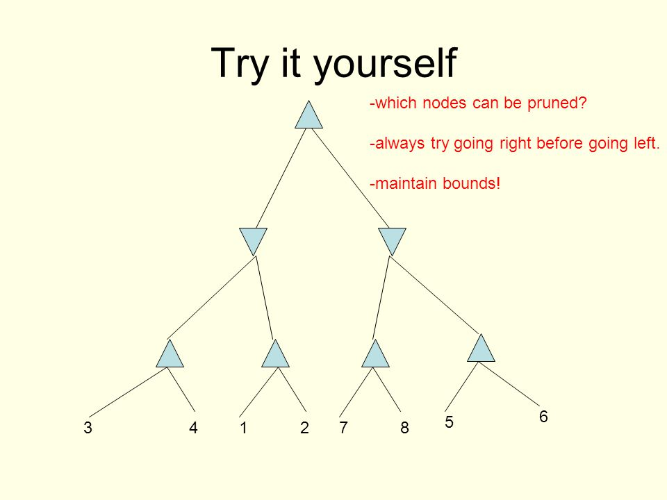 Try it yourself which nodes can be pruned.