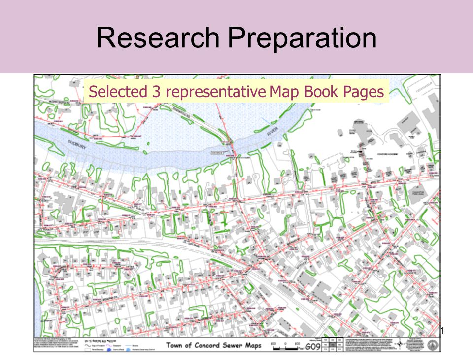 21 Research Preparation Selected 3 representative Map Book Pages