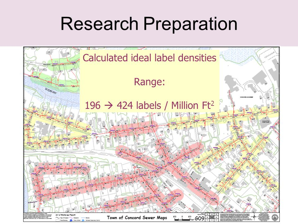 25 Research Preparation Calculated ideal label densities Range: 196  424 labels / Million Ft 2