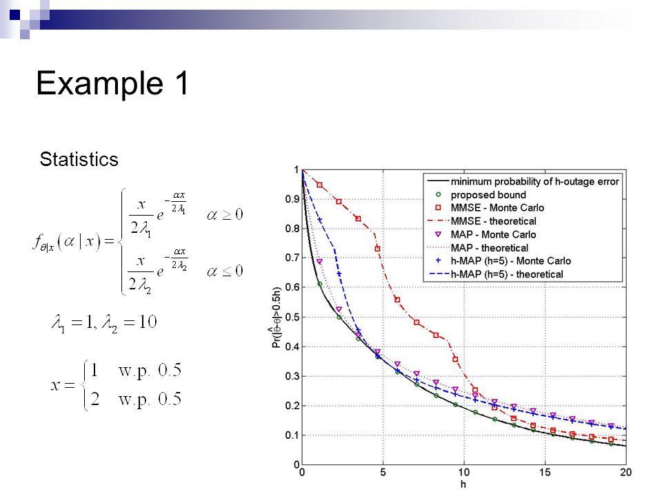 Example 1 Statistics