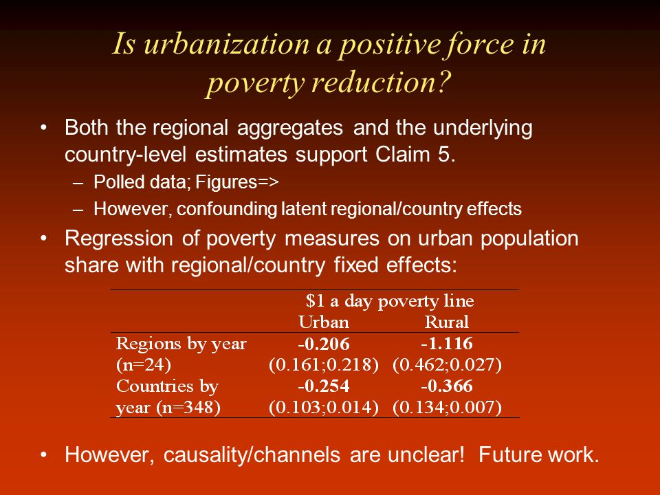 Is urbanization a positive force in poverty reduction.