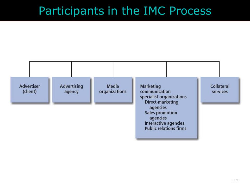 3-3 Participants in the IMC Process