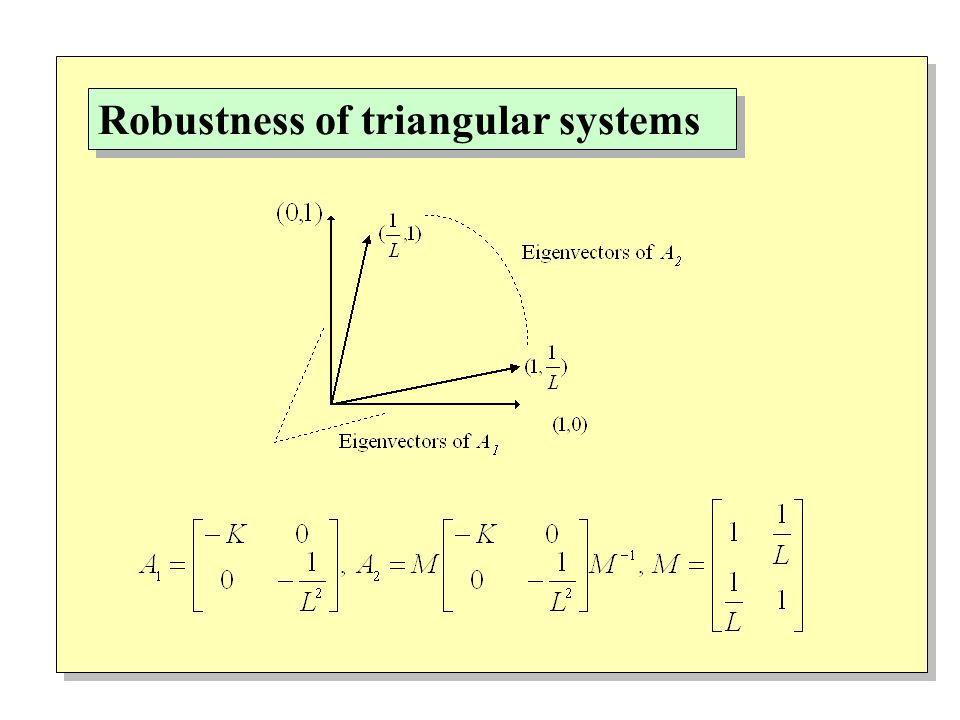 Robustness of triangular systems