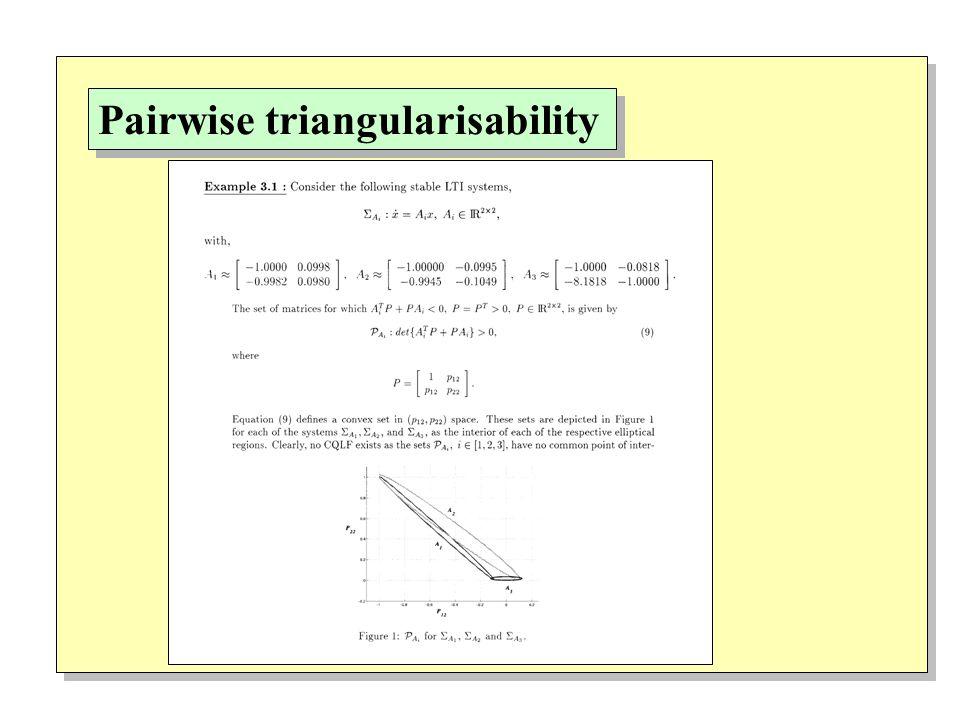 Pairwise triangularisability