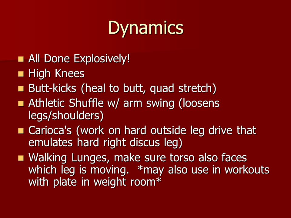Dynamics All Done Explosively. All Done Explosively.
