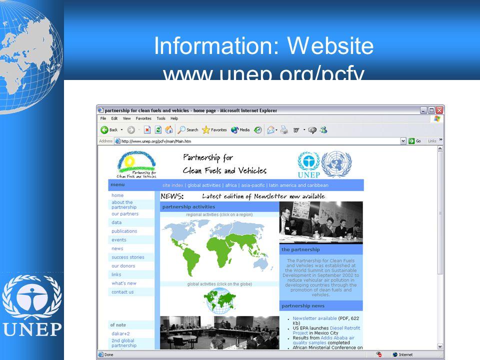 Information: Website www.unep.org/pcfv