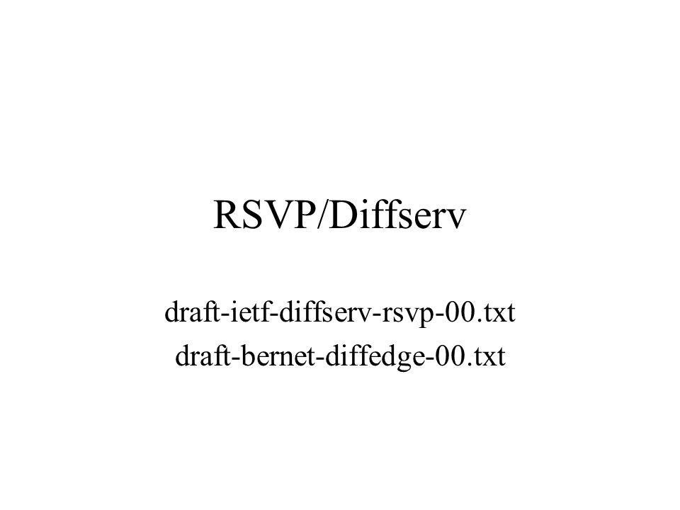 RSVP/Diffserv draft-ietf-diffserv-rsvp-00.txt draft-bernet-diffedge-00.txt