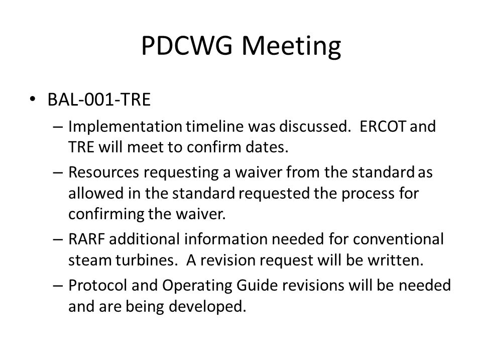PDCWG Meeting Reviewed June 21 frequency event.