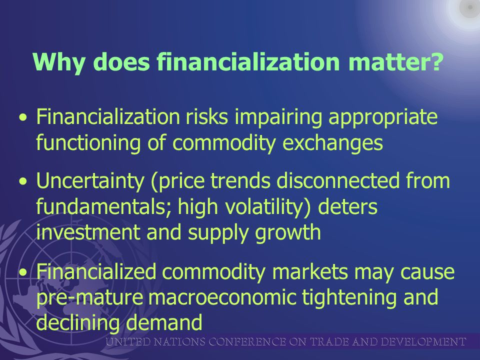 Why does financialization matter.