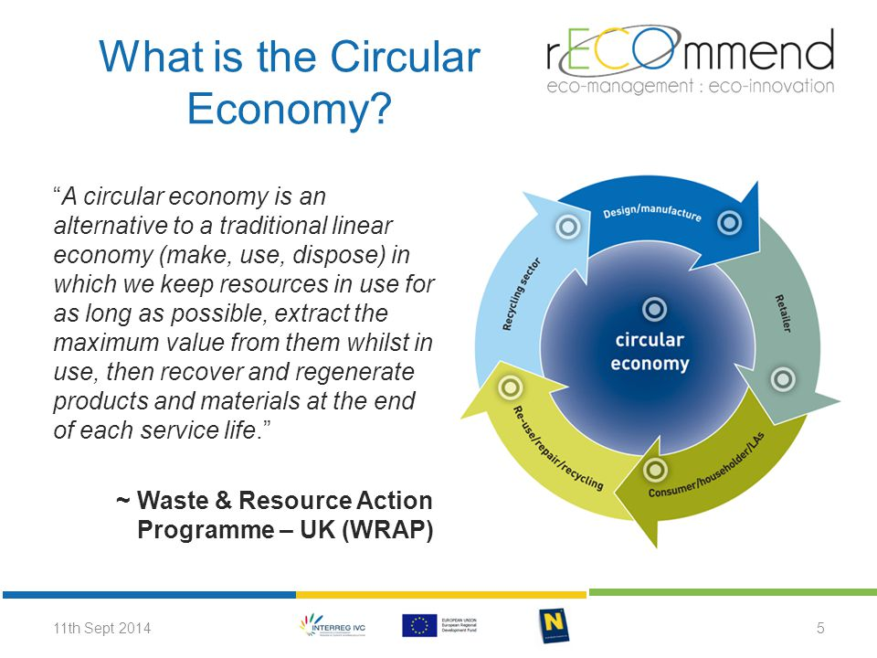 Supporting the Circular Economy Incentivising waste reduction and high-quality separation by consumers; Minimising costs of recycling and reuse with separation and collection systems; Facilitating industrial clusters that exchange by-products to prevent them from becoming wastes (industrial symbiosis); Encouraging wider consumer choice through renting or leasing instead of owning products (new business models).