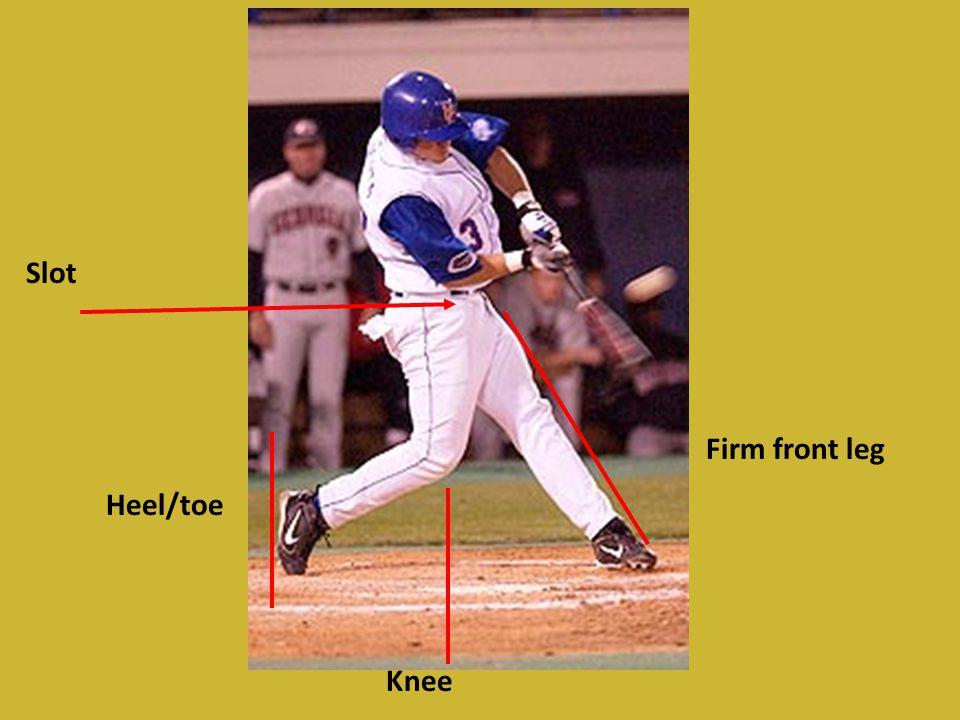 Slot Heel/toe Knee Firm front leg