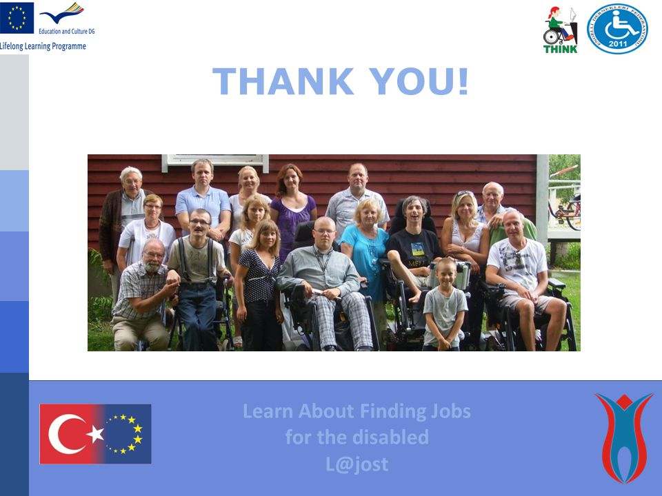 THANK YOU! Learn About Finding Jobs for the disabled L@jost