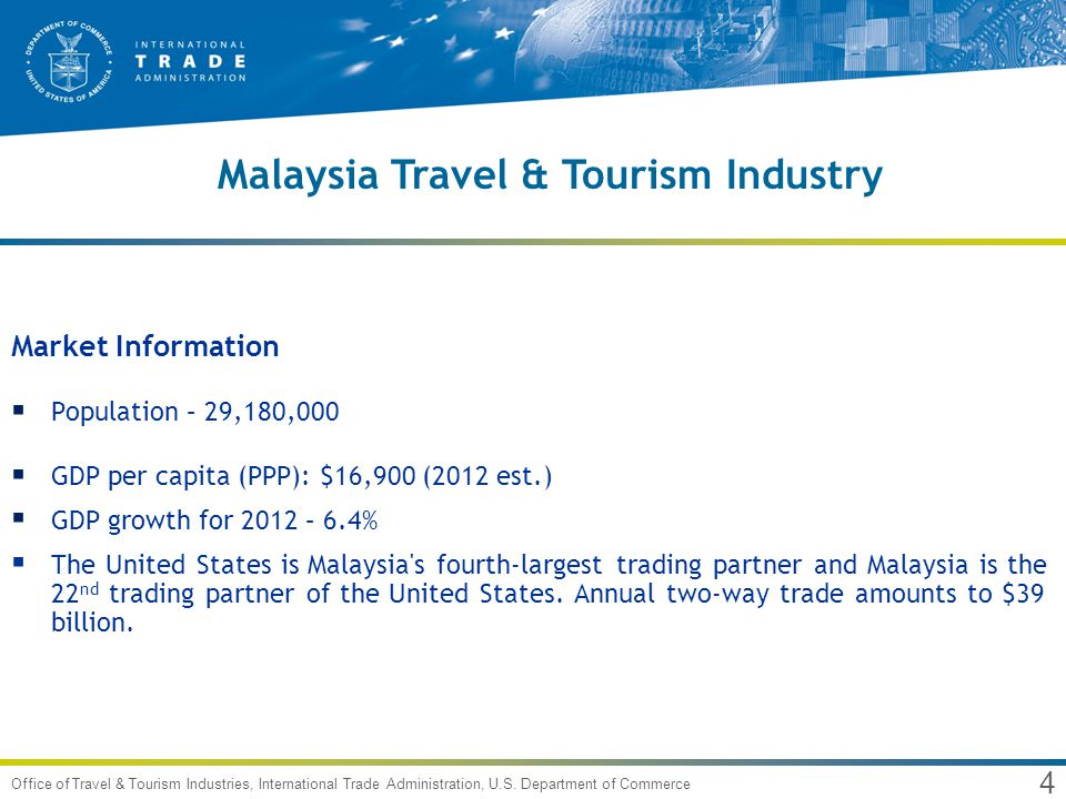 5 Office of Travel & Tourism Industries, International Trade Administration, U.S.