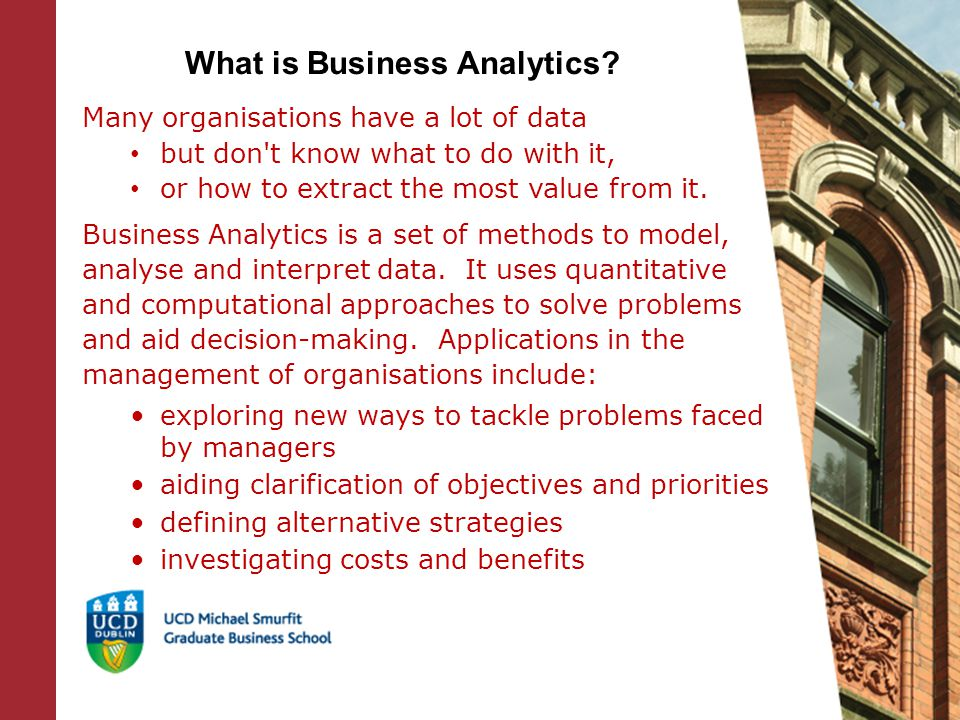 What is Business Analytics.
