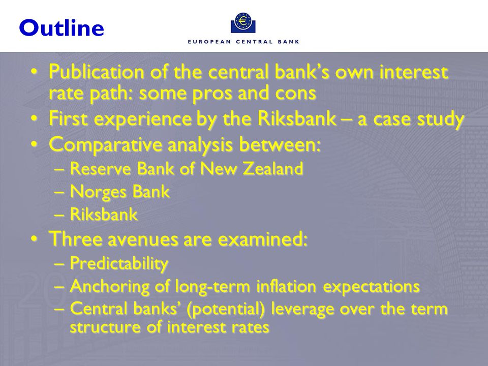 Examples Norges bank June 2007Riksbank February 2007