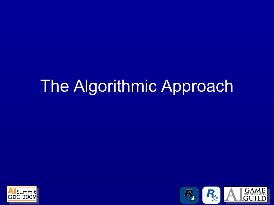 The Algorithmic Approach