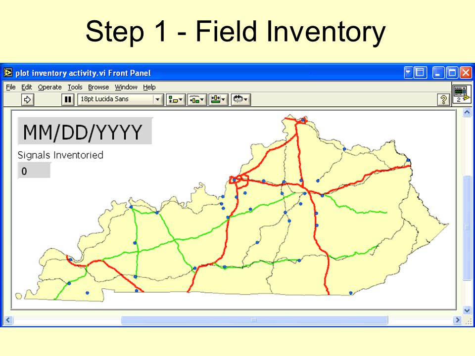 Step 1 - Field Inventory Show signal inventory animation