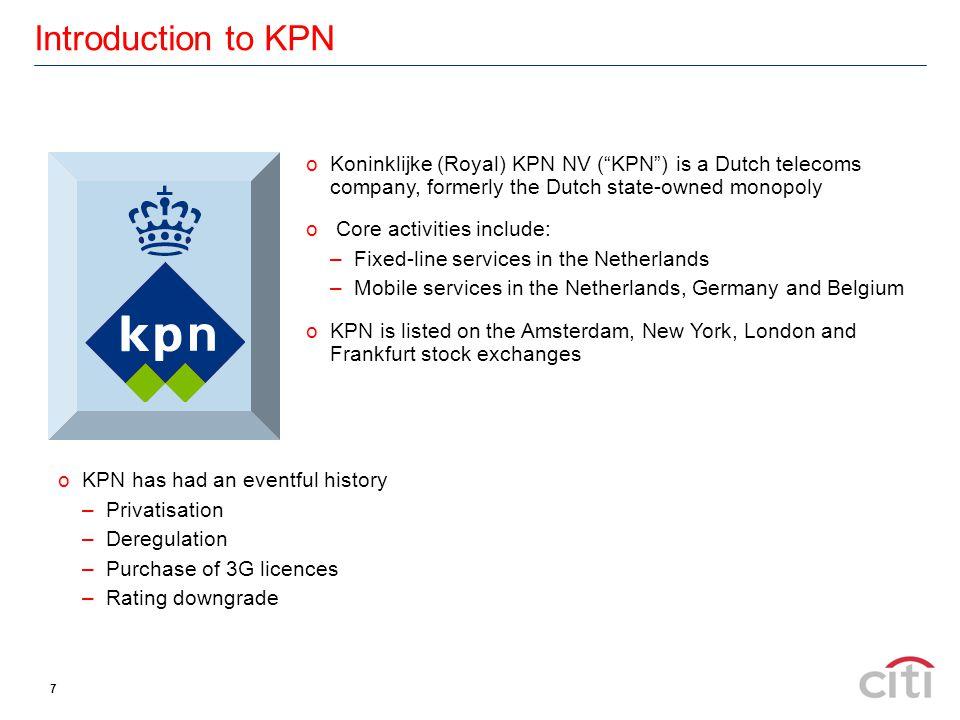 Result.oKPN announced a €5.0bn equity offering on 21 st November 2001 via Citi.