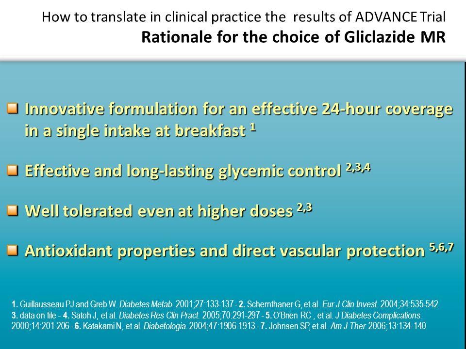 1. Guillausseau PJ and Greb W. Diabetes Metab. 2001;27:133-137 - 2.