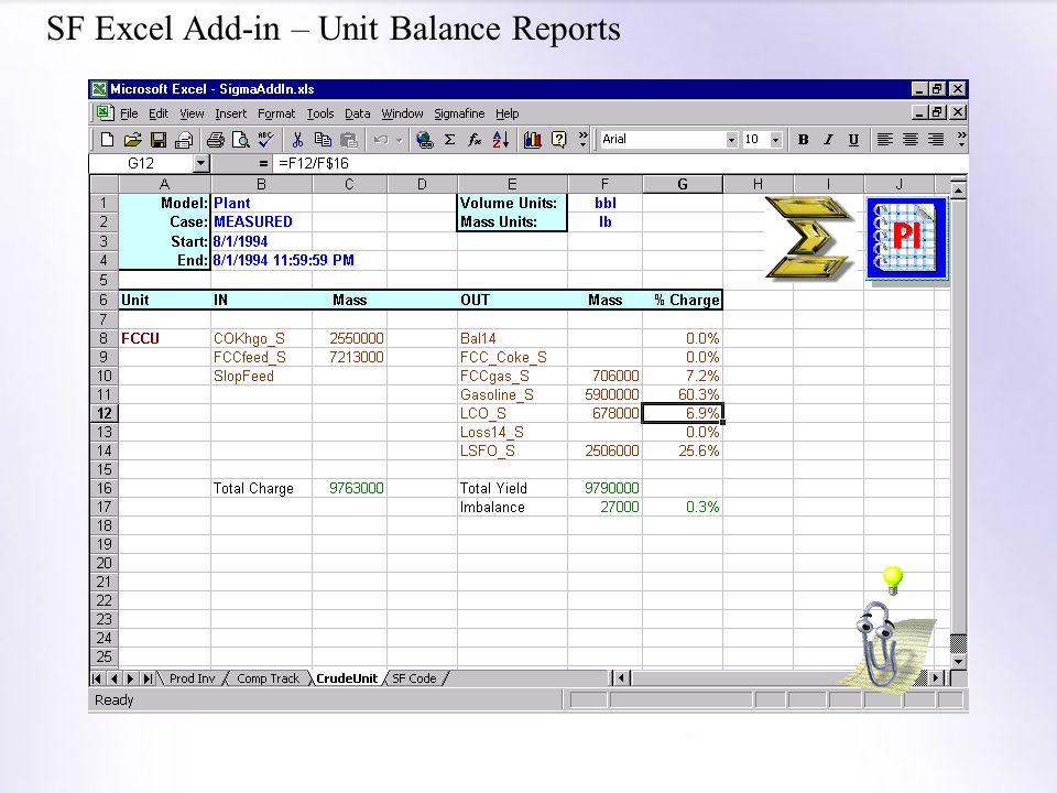 SF Excel Add-in – Unit Balance Reports