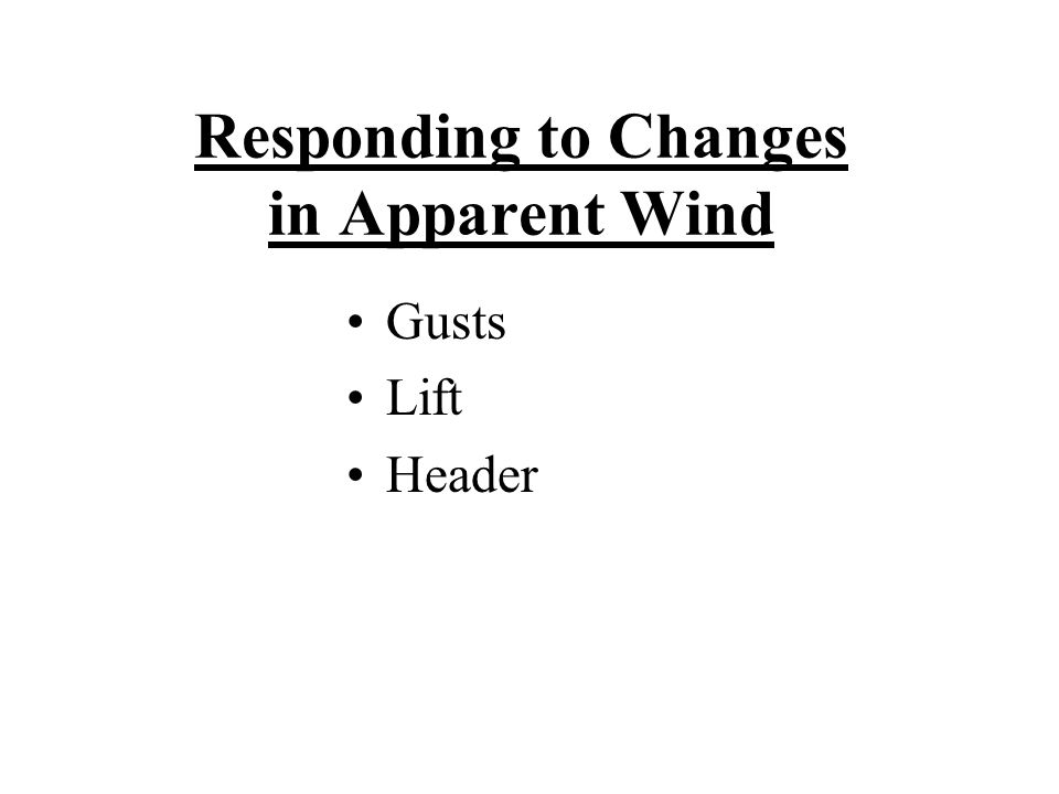 Responding to Changes in Apparent Wind Gusts Lift Header