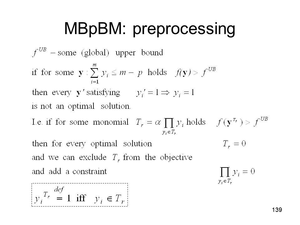 139 MBpBM: preprocessing
