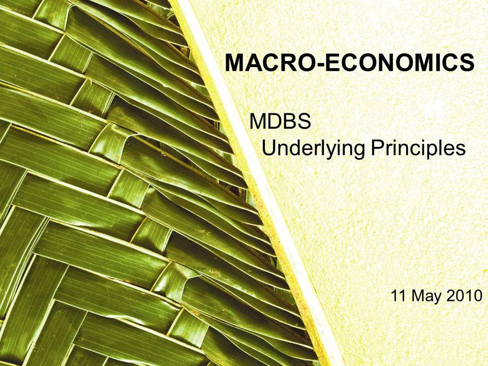 MDBS Underlying Principles MACRO-ECONOMICS 11 May 2010