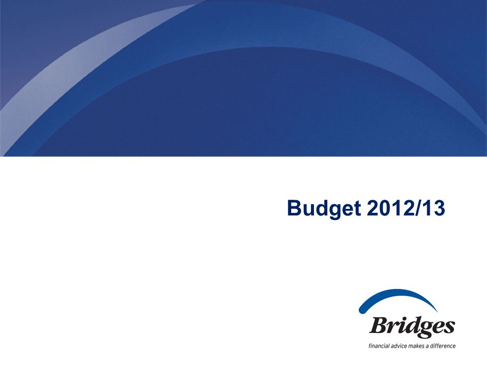 Budget 2012/13