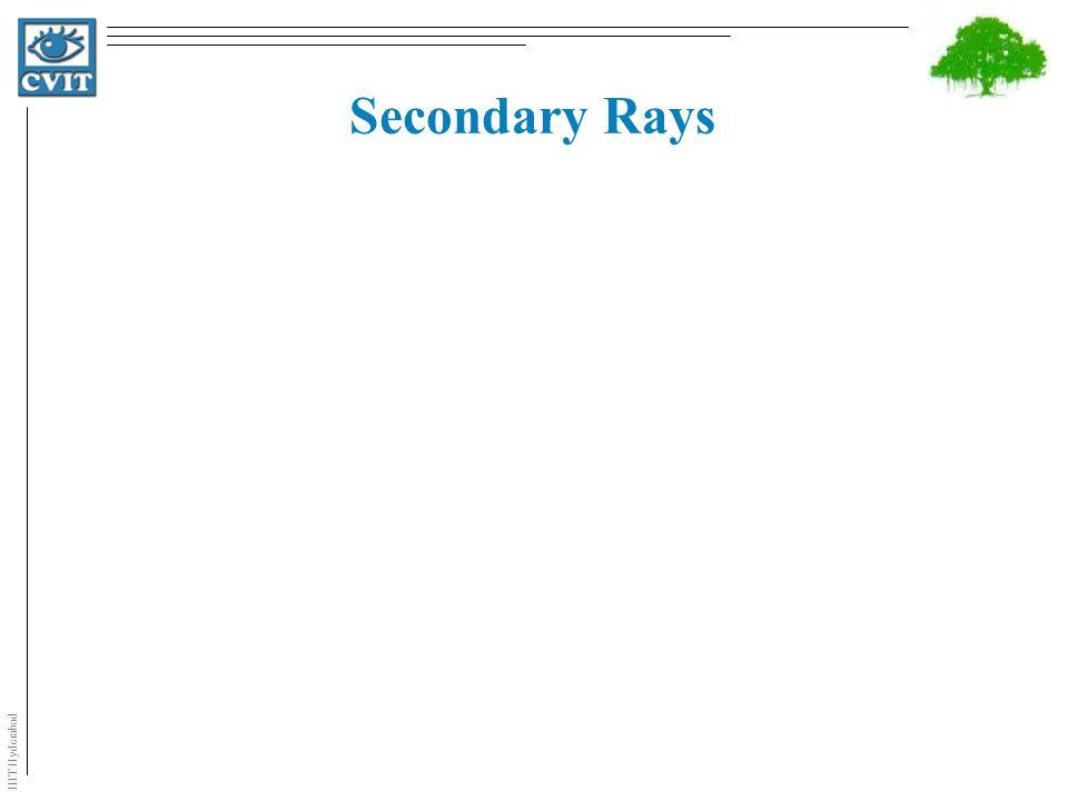 IIIT Hyderabad Secondary Rays