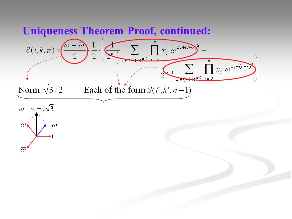 Uniqueness Theorem Proof, continued: