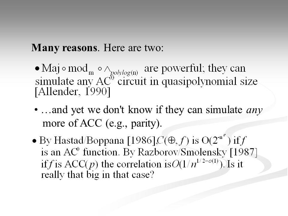 Main concern here: m = 3, d = 2: d < 2