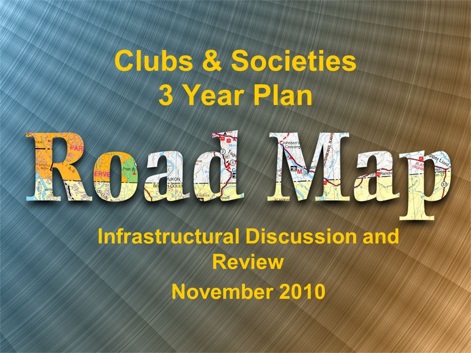 Clubs & Societies 3 Year Plan Infrastructural Discussion and Review November 2010