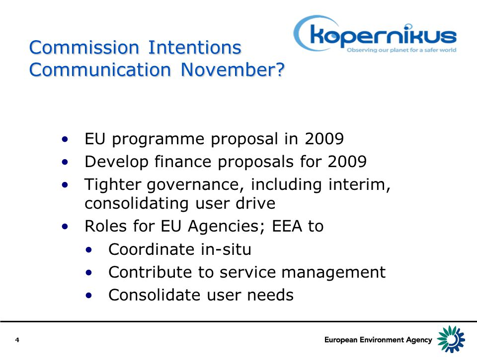 4 Commission Intentions Communication November.
