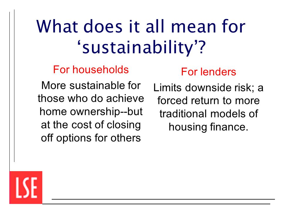 What does it all mean for 'sustainability'.