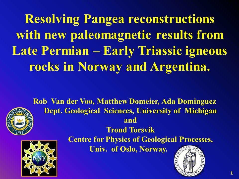 2 Different Pangea reconstructions