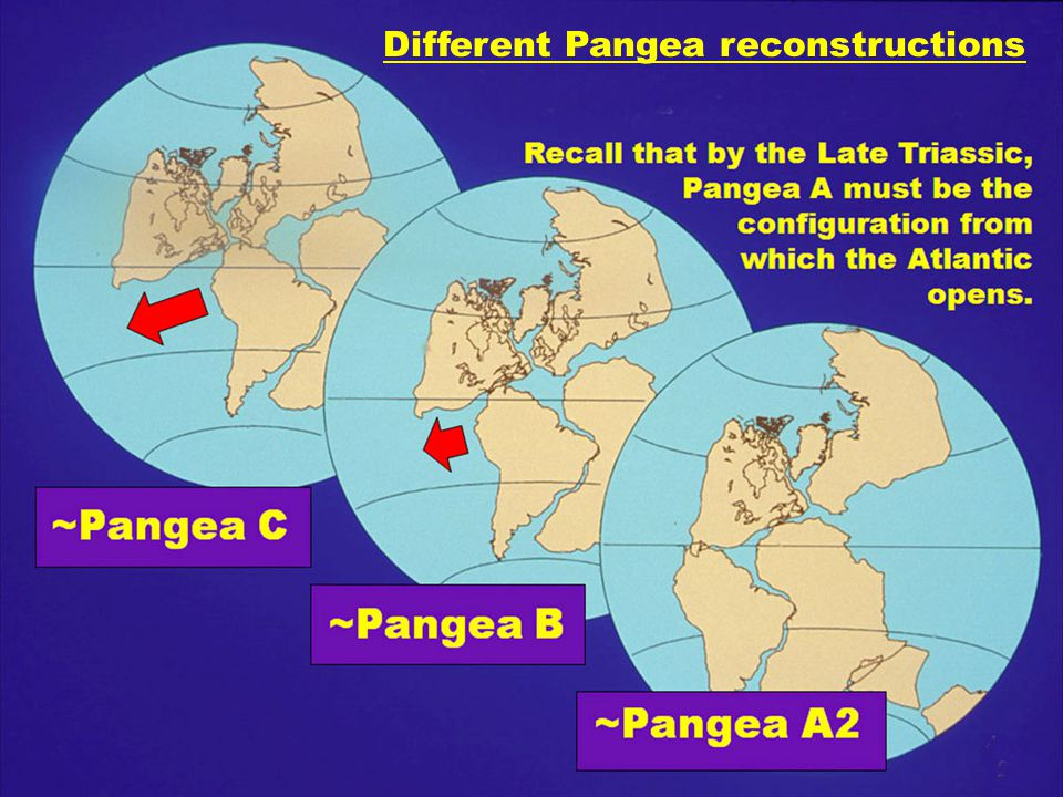 2 Different Pangea reconstructions