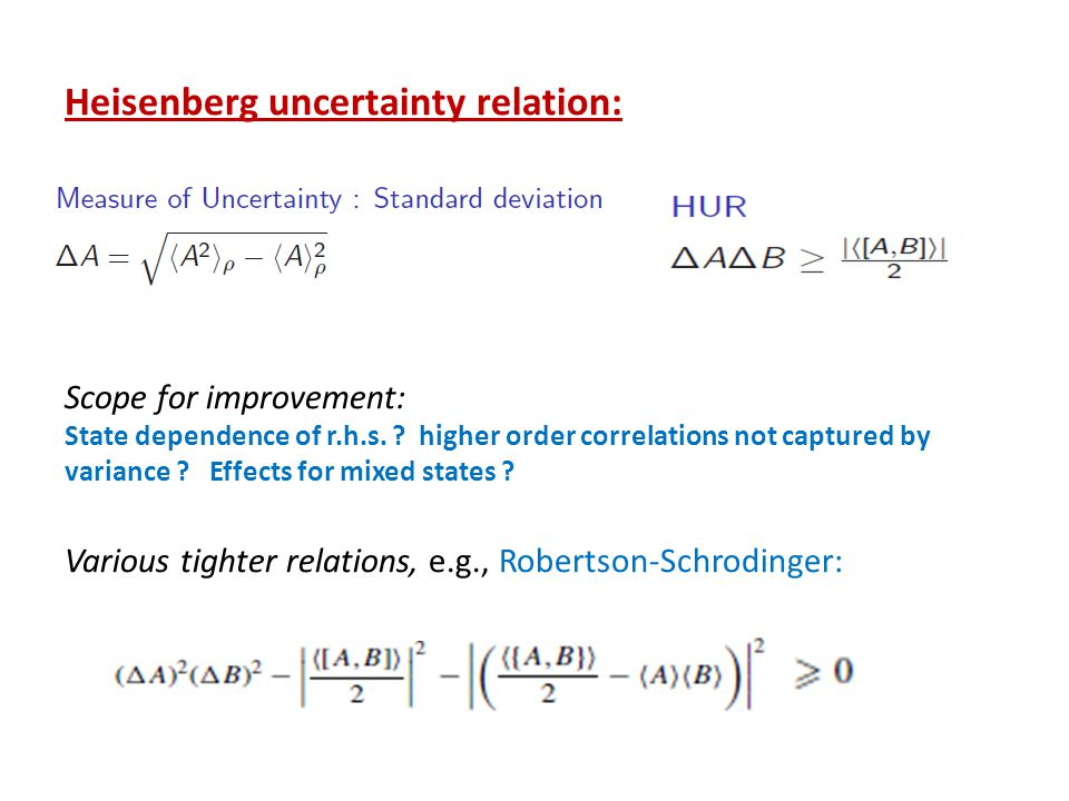 Heisenberg uncertainty relation: Scope for improvement: State dependence of r.h.s.