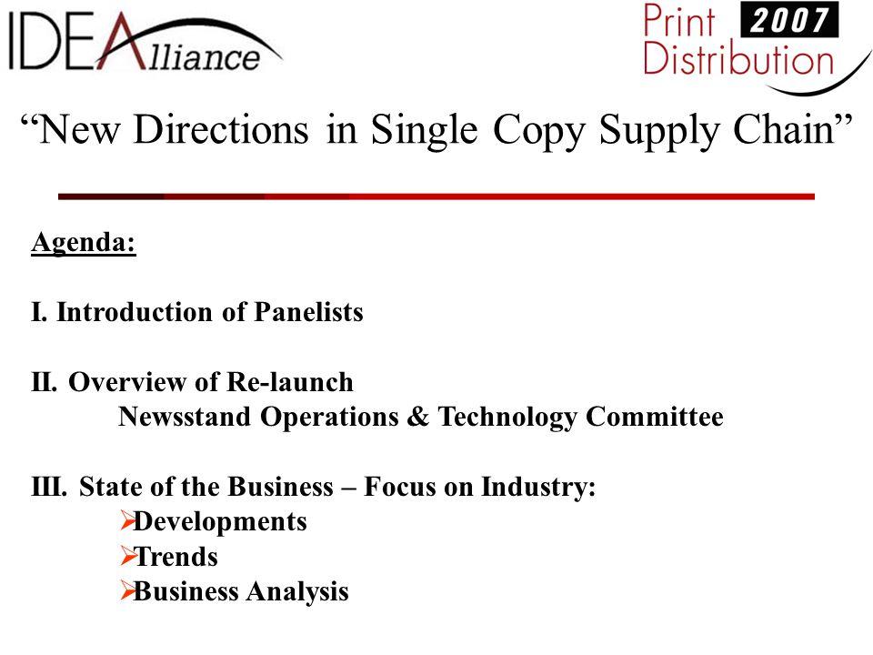Agenda: I. Introduction of Panelists II.