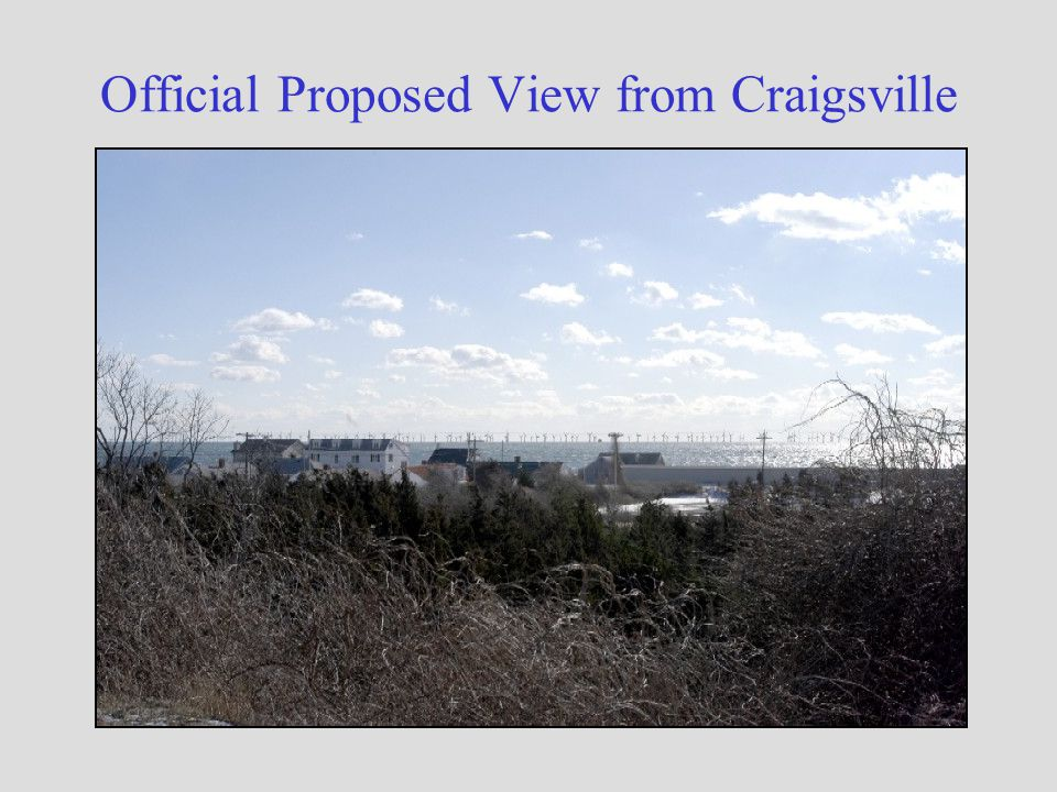 Official Proposed View from Craigsville