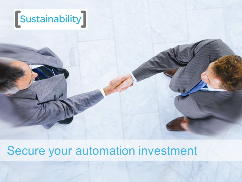 11 Secure your automation investment