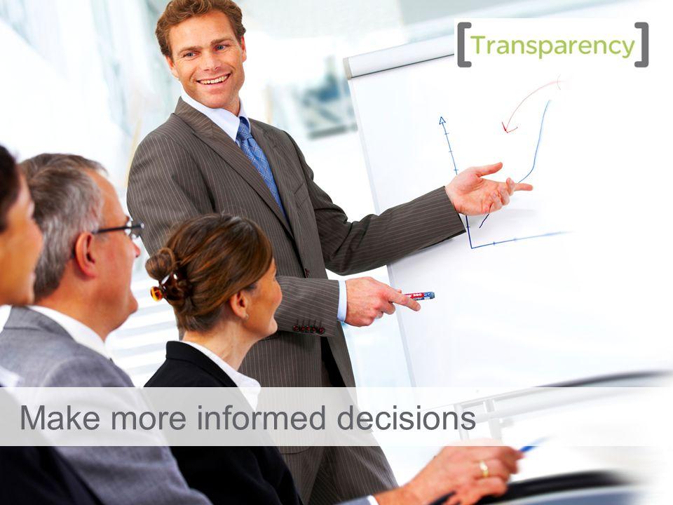 20 Make more informed decisions