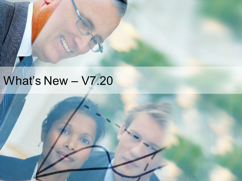3 What's New – V7.20