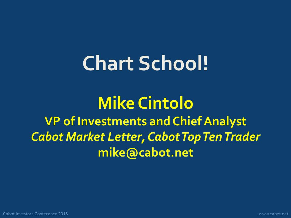 Cabot Investors Conference 2013www.cabot.net Chart School.