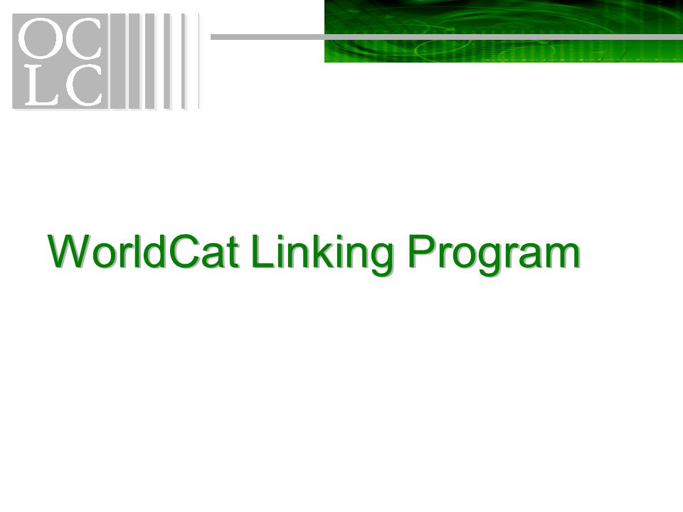 WorldCat Linking Program