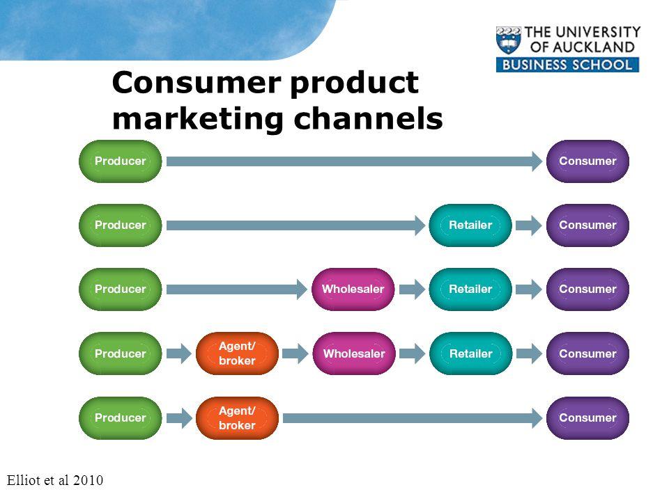 Consumer product marketing channels Elliot et al 2010