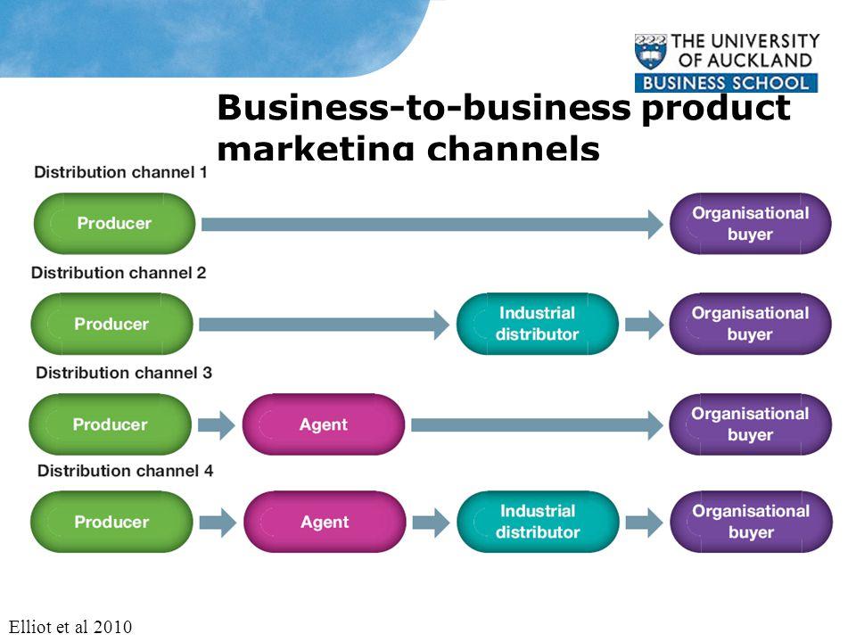 Business-to-business product marketing channels Elliot et al 2010