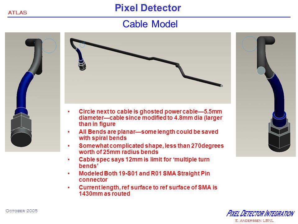 ATLAS Pixel Detector October 2005 E. Anderssen LBNL Just some pictures