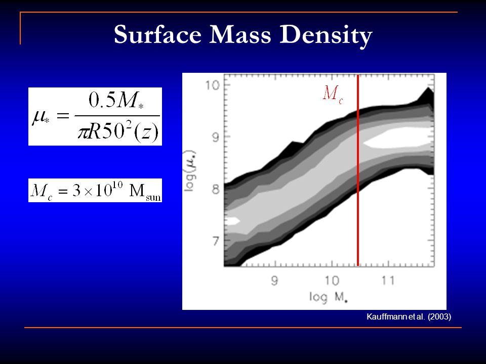Surface Mass Density Kauffmann et al. (2003)