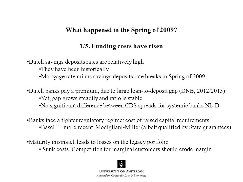 What happened in the Spring of 2009. 1/5.