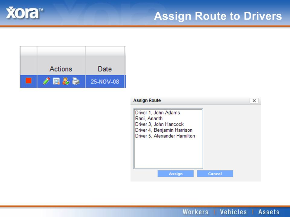 Assign Route to Drivers